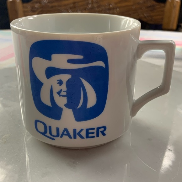 Vintage Quaker Oats 1970's Logo Coffee Cup